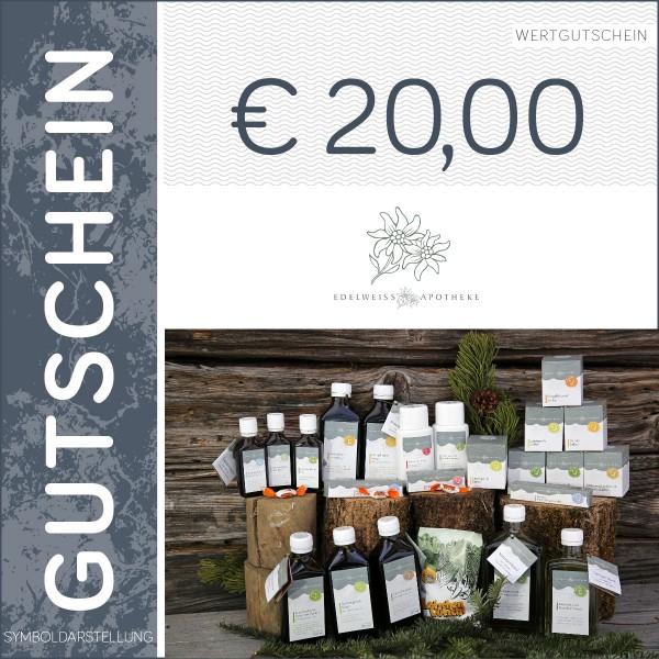 20 Euro Gutschein - Edelweiß Apotheke