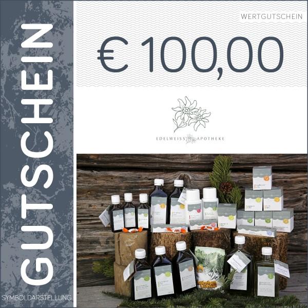 100 Euro Gutschein - Edelweiß Apotheke