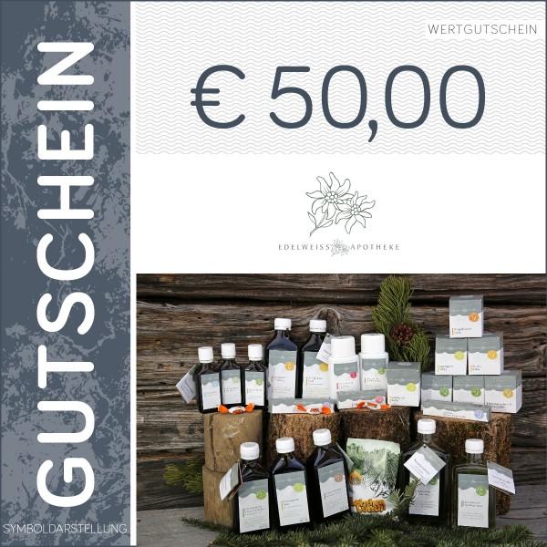 50 Euro Gutschein - Edelweiß Apotheke