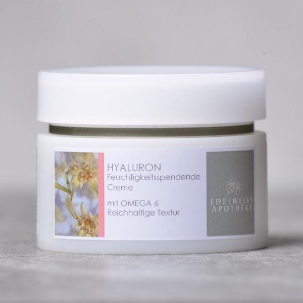 Hyaluron - Feuchtigkeitsspendende Creme mit Omega 6